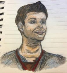 Jensen Ackles Drawing by blackcatdnangel