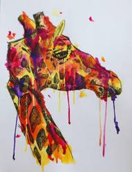 Pixie Stik the Giraffe by blaqkfiend