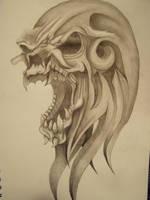 Tribal Skull pic2 by slayer720
