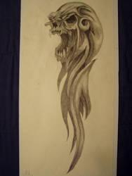 Tribal Skull pic1 by slayer720