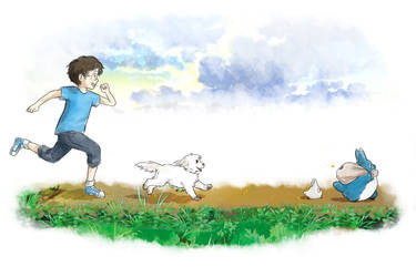 Run After Totoro by MistyMochi