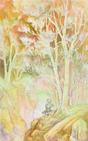 Floutist in Forest by irethkalt