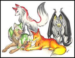 Wolf Pack by Halo-2-fan
