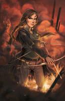 Fanart - Katniss by fictograph