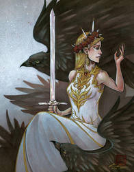 Original - Queen Of Swords by fictograph