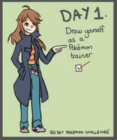40 Day Pokemon Challenge: 1 by Sophalone