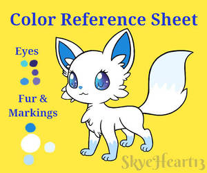 Snowflake Color Reference Sheet by SkyeHeart13