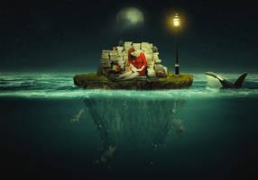 Studying on Island Underwater Scene by Roshan3312