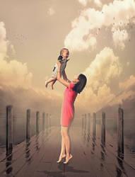 Digital Art Poster Mother by Roshan3312