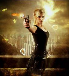 Poster Design Gun Shot by Roshan3312