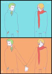 One Piece FanArt:ZoSan by Shin-ichi