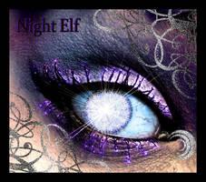 Warcraft Night Elf Eye by iluvjono4eva
