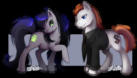Pony V and Mel by MOYRA-Athropos