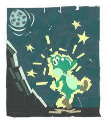 Paper Yoshi by RosieWeird