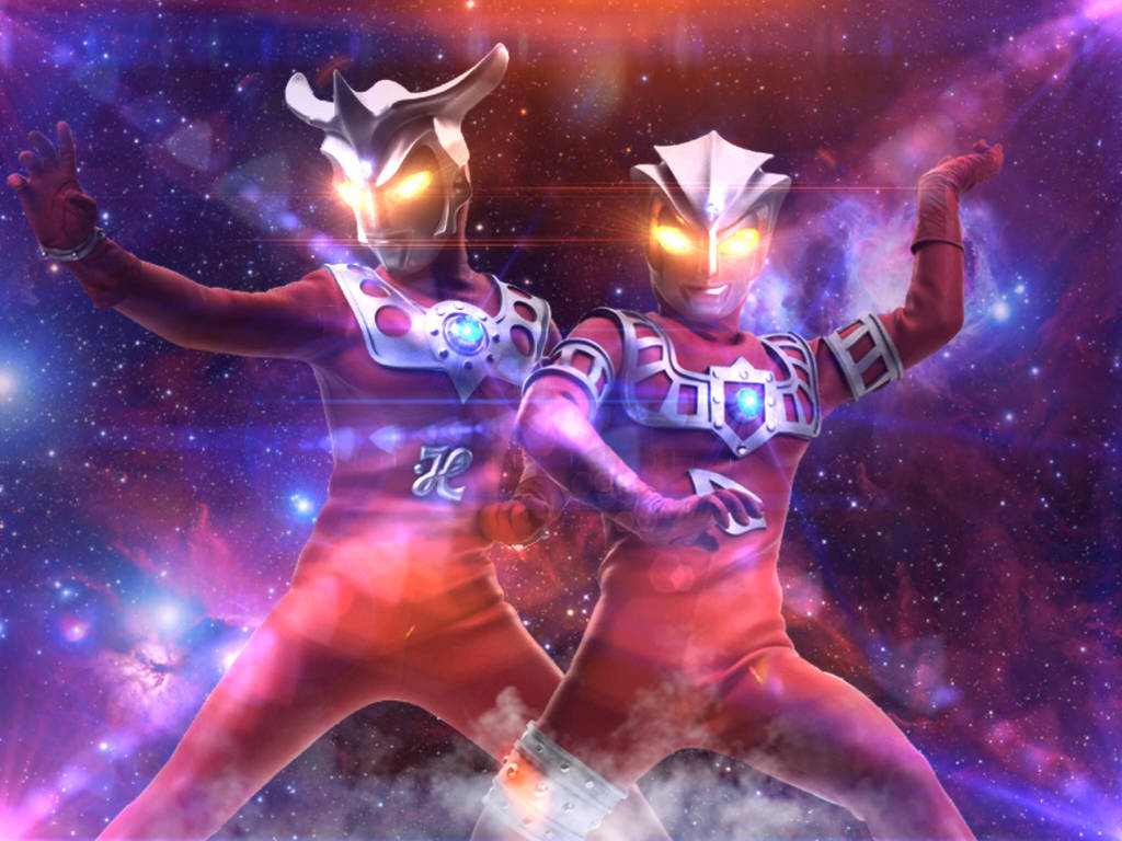 Ultraman Leo and Ultraman Astra  by Jacksondeans