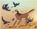Playing with Crows by AuldBlue