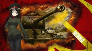 Girls und Panzer Wallpaper - Nonna by Deathvoltz