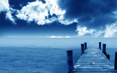 Blue Dock by dimage