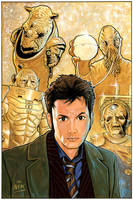 Doctor Who and four adversarys by NIK-Nick