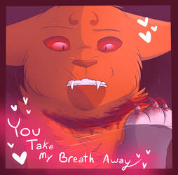 Valentines card- You take my breath away by ArualMeow
