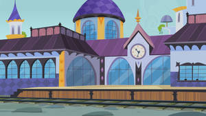 Canterlot Train Station by CloudshadeZer0
