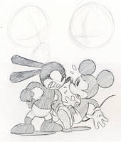 Oswald and Mickey SKETCH by Mickeymonster