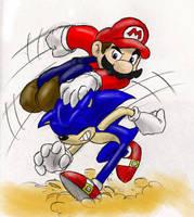 Sonic VS. Mario 8D by Mickeymonster