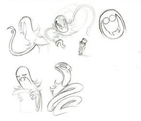 Snatcher sketches by Mickeymonster