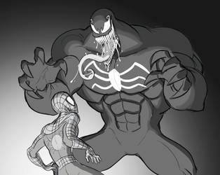 Spiderman and Venom by Mickeymonster