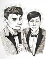 Dan and Phil portrait by RavenDANIELS