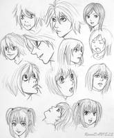 Death Note (style study) by RavenDANIELS