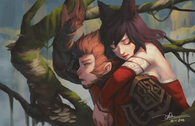Wukong Ahri by letrongdao