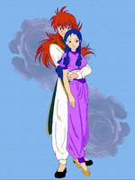 Kurama and Itani by reenas-as