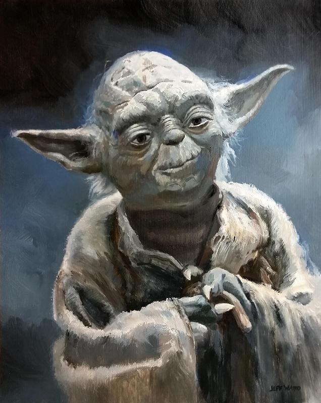 Yoda Star Wars Painting by Stungeon