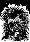 Wolf Man Sketch Card by Stungeon