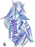 Elf Girl by Kalathra