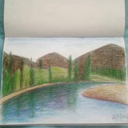 generic landscape drawing by JingTingWei