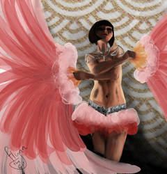 Phryne's Fan Dance by Flynn-the-cat