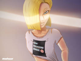 Do androids dream of Krillin? by Art-is-a-Explosion