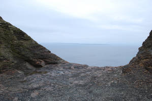 Ocean Cliff Edge by CompassLogicStock