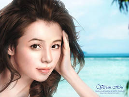 Portrait Drawing: Vivian Hsu by lyzeravern