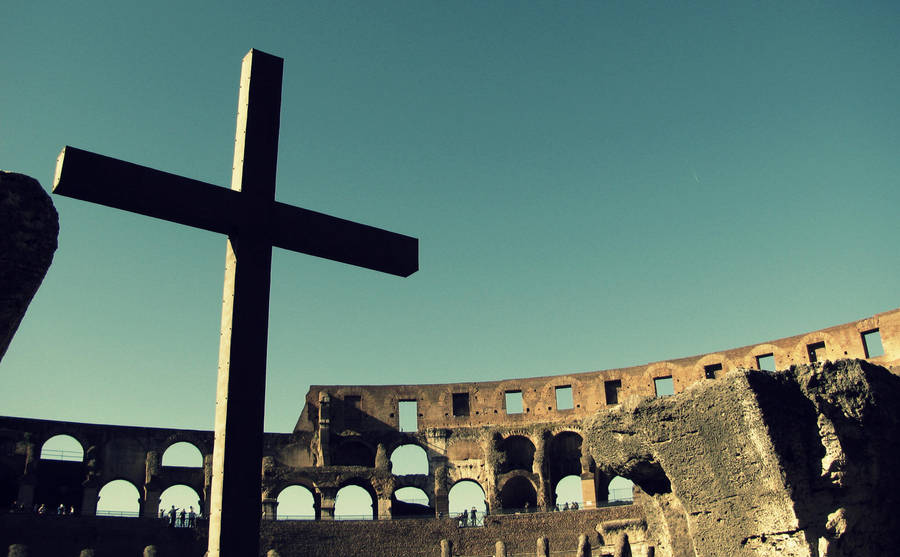 A Cross in the Colosseum by LostThyme