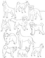 Free Dog Lines Revamp by SabraeTrash