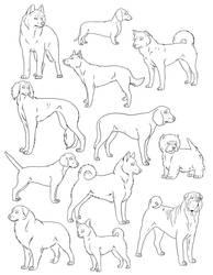 Free Dog Lines 2 by SabraeTrash