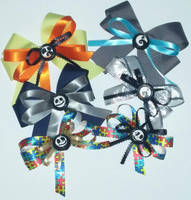 Nightmare Before Christmas bottle cap hair bows by wolf-girl87