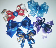 Doctor Who hair bows - Tardis, The Doctor by wolf-girl87