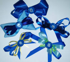 Doctor Who hair bows - Tardis, The Doctor part 2 by wolf-girl87