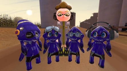 [SFM Splatoon] Blue Team Back in Time by melika567
