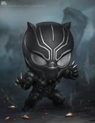Chibi Black panther by kuchumemories9