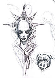 Demicas Tattoo Sketch by ShawnCoss